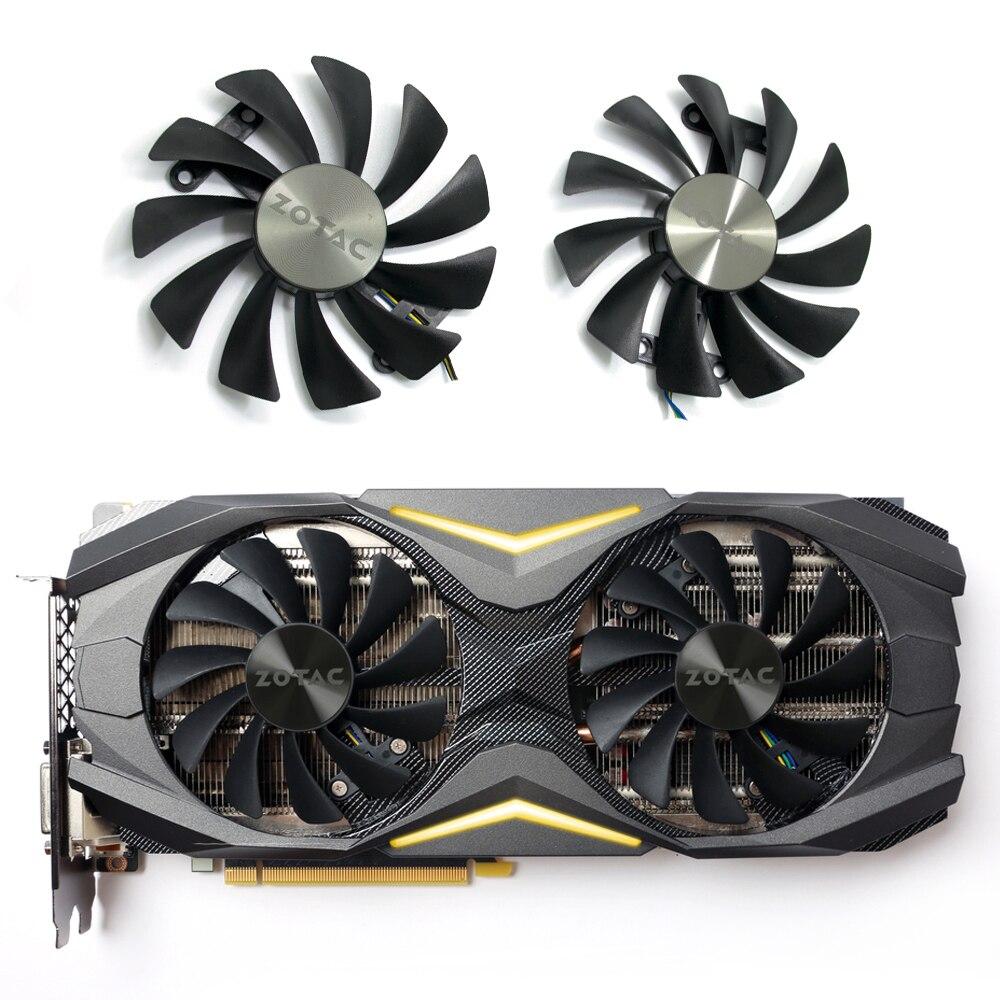95MM GAA8S2U GFM10012H12SPA 4Pin Cooler Fan For ZOTAC GeForce GTX 1070 1080 GTX1070 GTX1080 AMP Edition Video Cards Cooling Fans