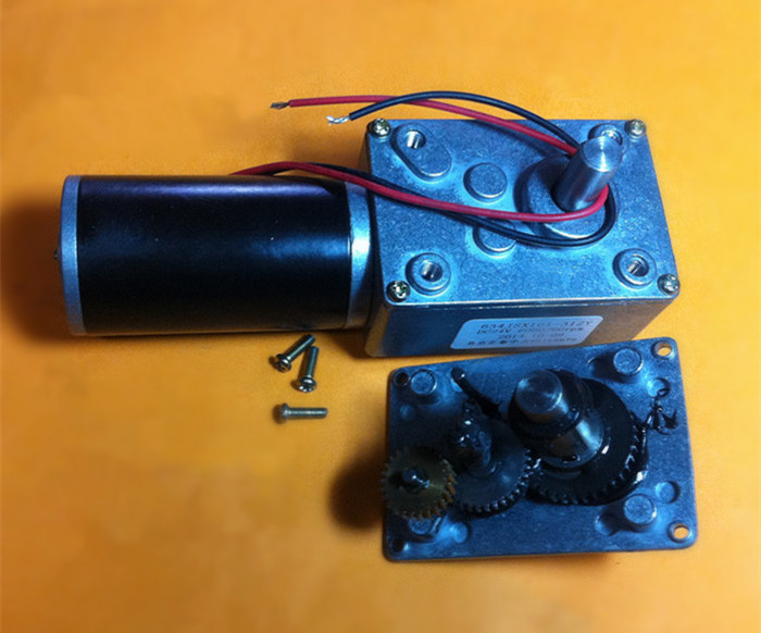 DC 24V  250rpm  micro worm Geared Motor with Self-locking function , Micro motor with Metal gear worm gearbox