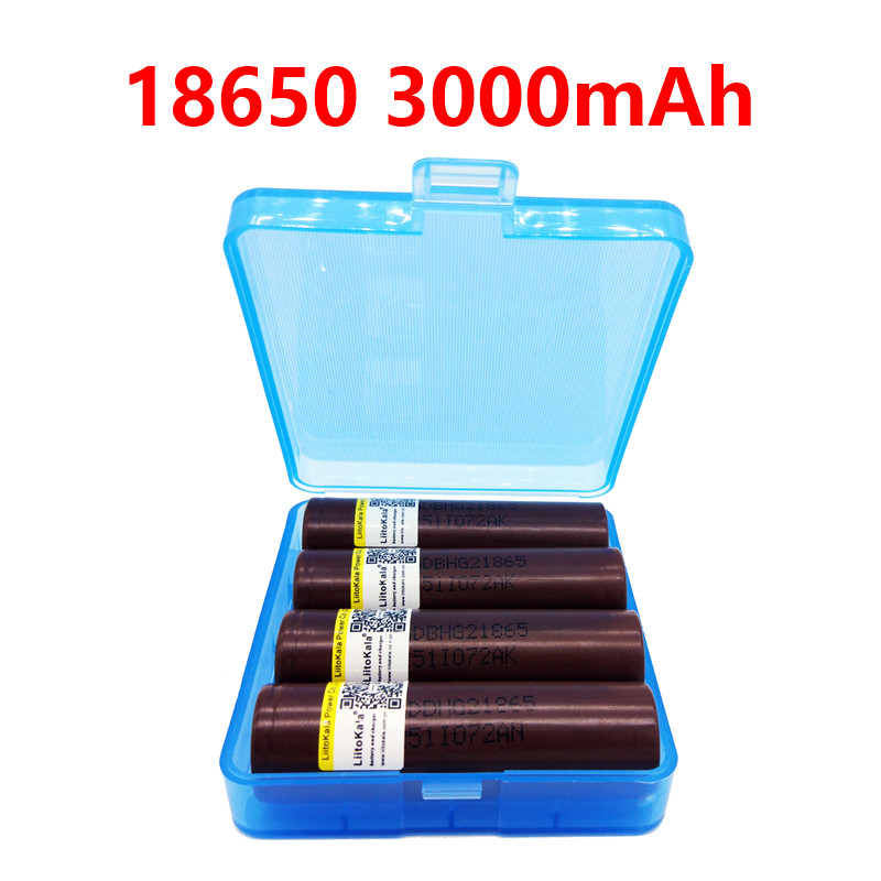 2019 LiitoKala HG2 18650 3000mah Electronic Cigarette Rechargeable Batteries Power High Discharge,30A Large Current