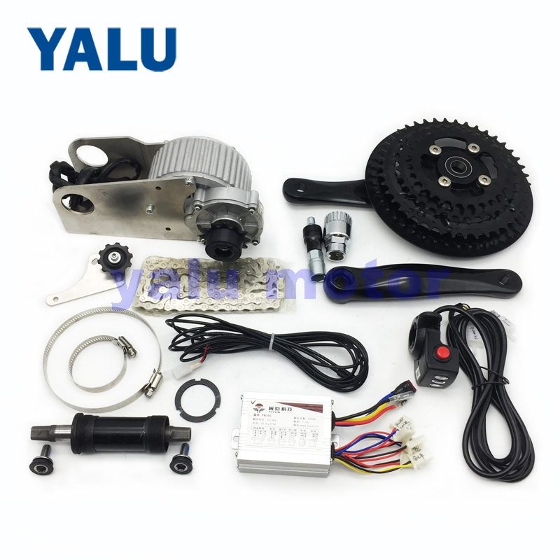 36V 450W stronger power middle drive electric bike motor kit Variable speed Ebike electric bicycle conversion kit for DC Motor