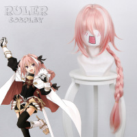 New Arrival Game Fate Apocryph Astolfo Cosplay Wigs 75cm Pink Heat Resistant Synthetic Hair Perucas Cosplay Wig With Wig Cap