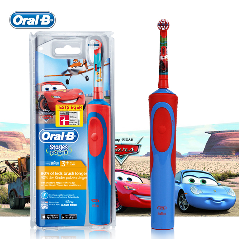 Oral B Children Electric Toothbrush D12513K Safety Rechargeable Waterproof Gum Care Teeth brush for Kids Ages 3+ Oral Hygiene image