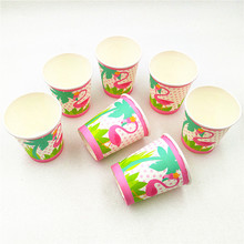 10pcs/lot Flamingo Kids Birthday Party Supply  Paper Cup Event Supplies Baby Shower Decoration Favors