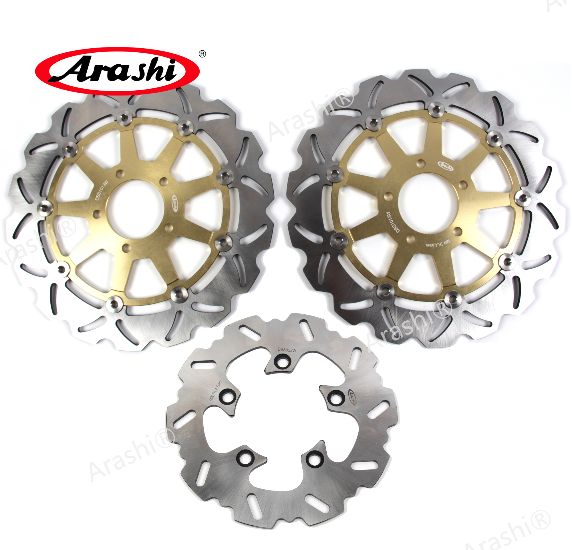 Arashi 1 Set GSX R 1000 CNC Floating Front Rear Brake Disc Brake Rotors For SUZUKI