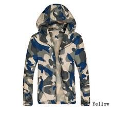 1fa98c0b5d52c Vogue Nice Camouflage Jacket Men Plus Size Camo Hooded Windbreaker Jackets  Coat Military Army Jacket Parka Fashion Streetwear
