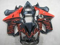 Cbr 600 f4i 01 02 03 Red flames Bộ Phận Tạo đối với Honda CBR 600F4i 2003 2002 2001 Injection mold Fairing kit + 7 quà tặng ll118