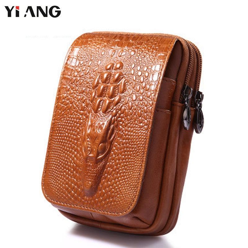 YIANG Classic Leather Belt Pouch Men Äkta Läder Kohhide - Bälten väskor - Foto 5