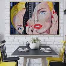Women Half Face Graffiti Urban Street Art Banksy Canvas Painting Posters and Prints POP Wall for Living Room Home Decor