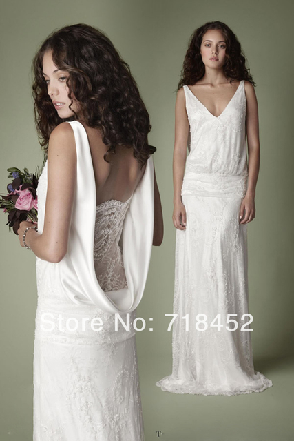 1920s Style Vintage Wedding Dresses Collection For Romantic Brides Lace Decade Satin V Neck