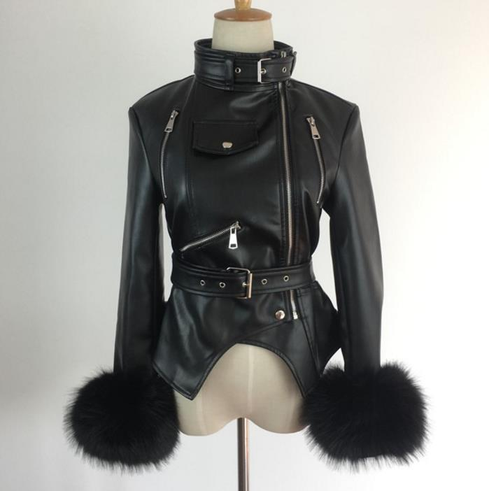 Décontracté Chaud Cuir Outwear À Veste Pu En Noir Nouvelle Fermeture Femmes Fourrure Éclair wTRq18Z