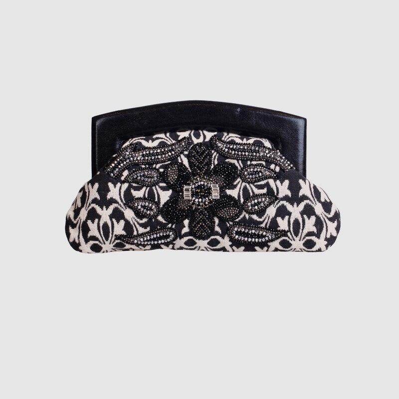 LOCAL FOCAL Black and white pattern handbag black and white stripe pattern pullover shirt