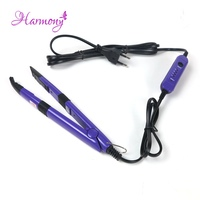 2pcs Lot Purple Color Professional Flat U Tip Hair Extension Fusion Iron Mini Iron Fusion Connector