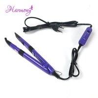 2pcs Lot Purple Color Professional Flat U Tip Hair Extension Fusion Iron Mini Iron Fusion Connector