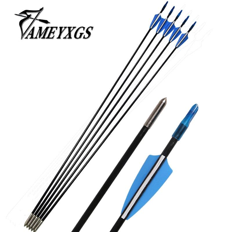 6/12/24pcs Arrow 6mm Fiberglass  31 Plastic Shield Fletching Vanes Hunting Arrows Recurve Long Bow Practice