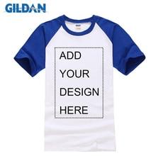 Gildan 100% Cotton Customize T Shirt Men Short Sleeve Solid Color T Shirts Hot Summer High Quality Raglan T-shirt Simple Men Tee