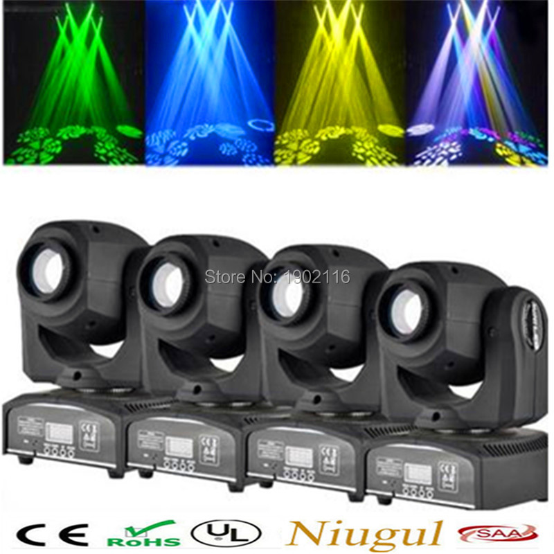 4pcs/lot 30W led gobo moving head light led spot light ktv disco dj lighting dmx512 stage effect lights 30W led patterns lamp high quality mini 10w led spot moving head 7 gobo stage light disco dj dmx512 rgbw stage effect projector stereotypes packaged
