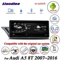 Liandlee для Audi A5 8 т Android оригинальный Системы радио Carplay 4G SIM gps Navi навигация HD Экран мультимедиа без CD dvd плеер