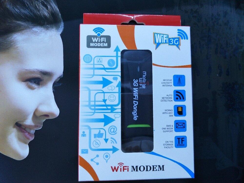 7.2 Mbps מודם לנקודה חמה של WIFI USB Dongle WiFi נתב עם חריץ כרטיס ה-SIM 3 גרם לרכב