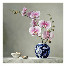 New 5d Diamond Embroidery Orchid Full Mosaic Crafts diy Painting Cross Stitch Home Decor Rhinestone sale R112