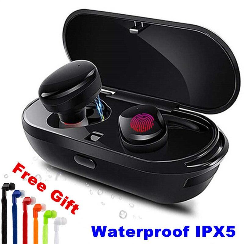 E-XY Drahtlose Bluetooth Kopfhörer Wahre Wireless Stereo Ohrhörer Wasserdichte Bluetooth Headset Headphon für Telefon HD Kommunikation