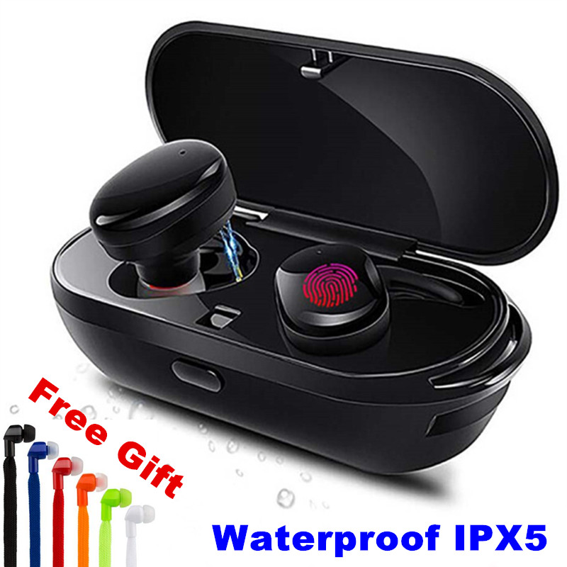 E-XY  Wireless Bluetooth Earphones True Wireless Stereo Earbud Waterproof Bluetooth Headset Headphon for Phone HD Communication