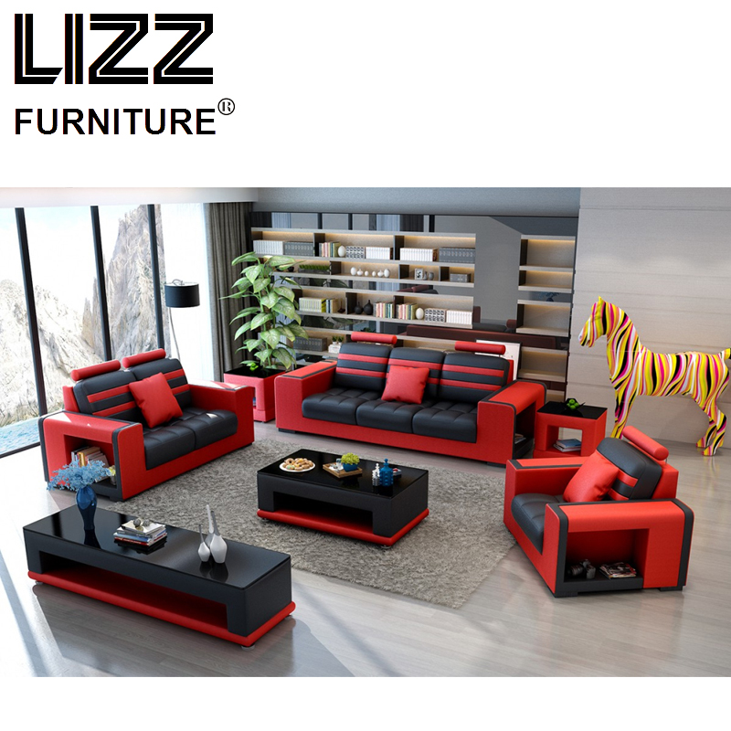Corner Sofas Miami Modern Leather Sectional Sofa For Living Room Sets Group With Side Table Coffee Tv Cabinet Ottoman In From