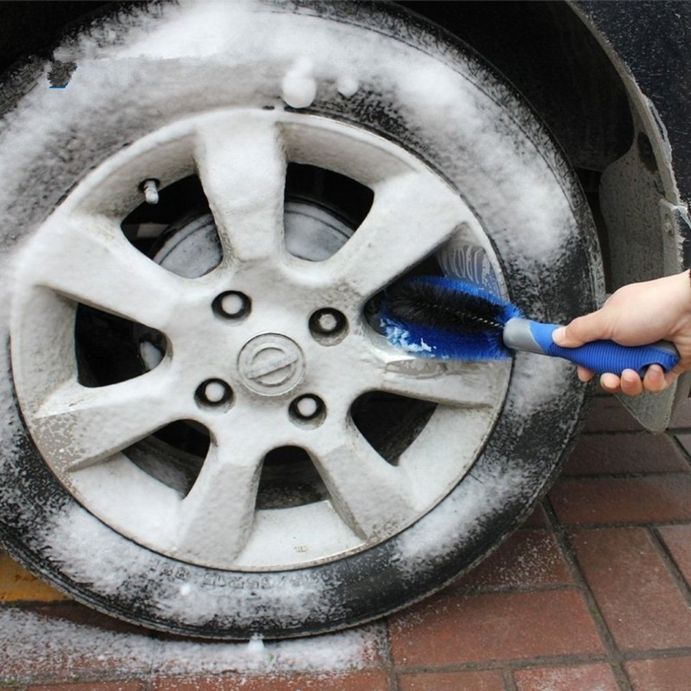 Image 5 - Car Tyre Hub Cleaning Brush Vehicle Motorcycle Wheel Tire Rim Scrub Brush Washing Dust Cleaning Tool for Car Wheel-in Sponges, Cloths & Brushes from Automobiles & Motorcycles