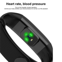 Fitness Tracker Heart Rate Blood Pressure IOS Android Smart Watch