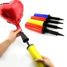 1 шт. большой ПВХ воздушный насос для латексных шаров, надувные игрушки и фольгированные шары, воздушный насос для мяча, ручной насос, товары для дня рождения