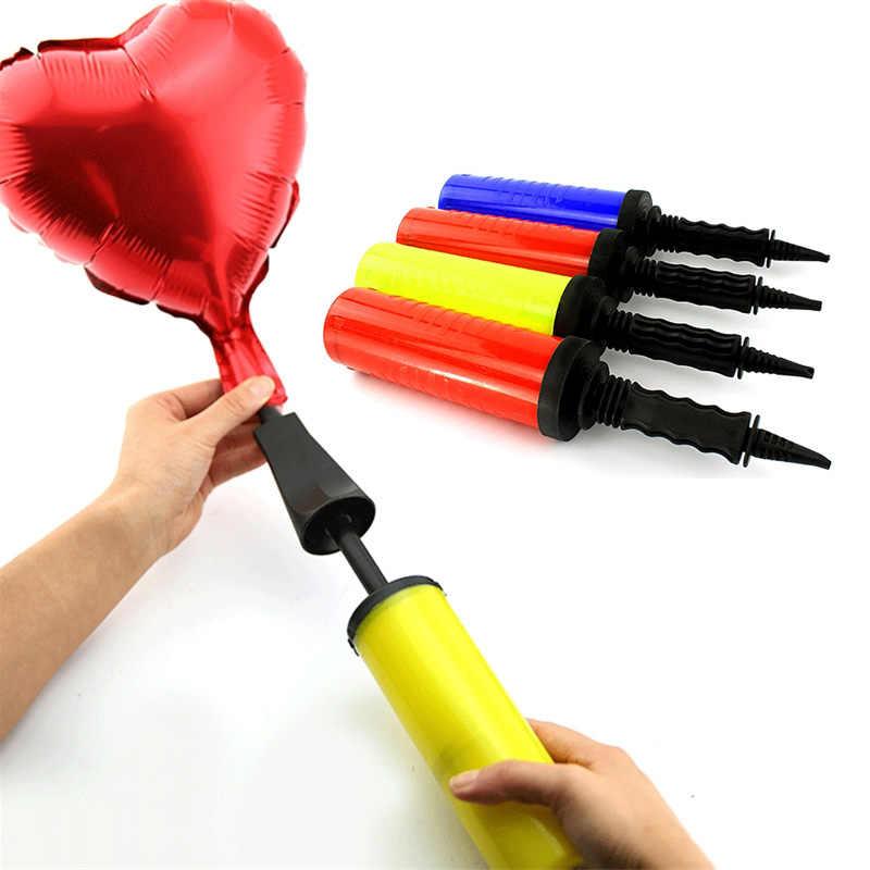 1pc grande bomba de balão de pvc para globos de látex brinquedos infláveis e balões de folha bolas de ar bomba de mão suprimentos de festa de aniversário