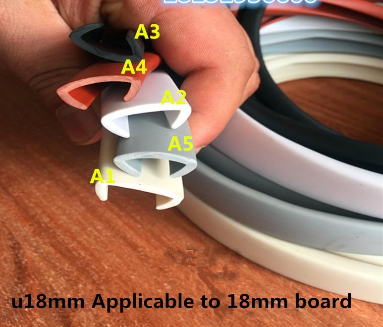 5 Meters Meubels Rand Banding Diepgang Tape Tochtstrip Toepasbaar 16mm-18mm Board Edge Banding Esponja Acustica Epdm U Kleuren Zijn Opvallend