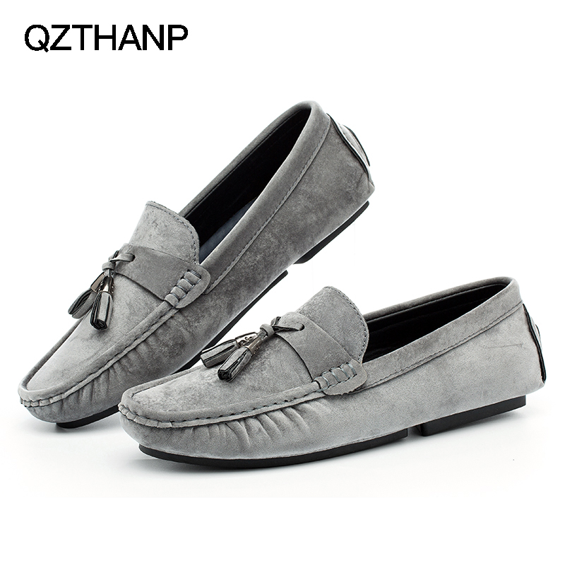 Fashion Comfortable Soft Leather Man Casual Shoes Loafers Slip-on Shoes For Men Autumn Shoes Flats Size Tenis Masculino Adulto