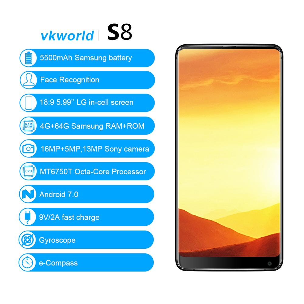 Original VKworld S8 4G Mobile Phones And