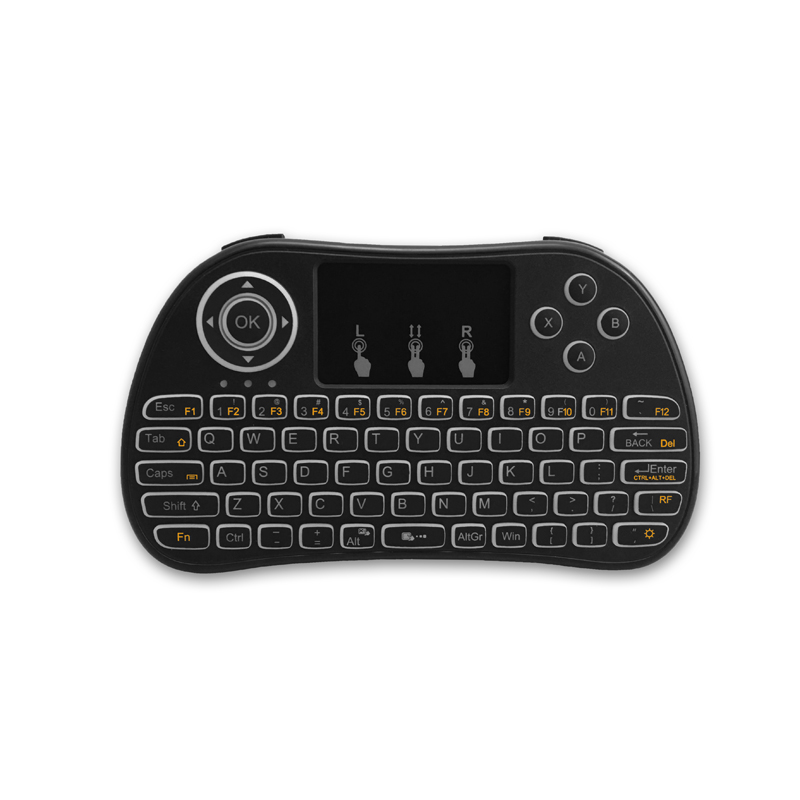 mini wireless keyboard with touchpad mouse combo multi media portable handheld rechargeable 2. Black Bedroom Furniture Sets. Home Design Ideas