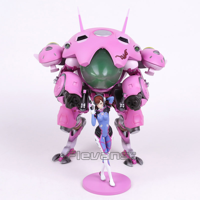 Hot Game Hero Hana Song D.VA with Mecha PVC Figure Collectible Model Toy 24cm new ow heroes dva hana song mecha d va pvc figure statue model gift toy collectibles model doll 480