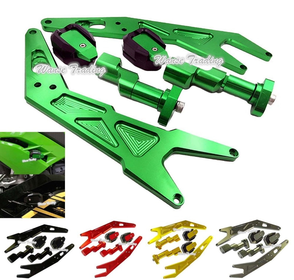 Motorcycle Frame Sliders Protector Crash Guard Pad For Kawasaki Ninja 250 300 300R ZX250R ZX300R EX250 EX300 2013 2014 2015 2016 reflex de 2