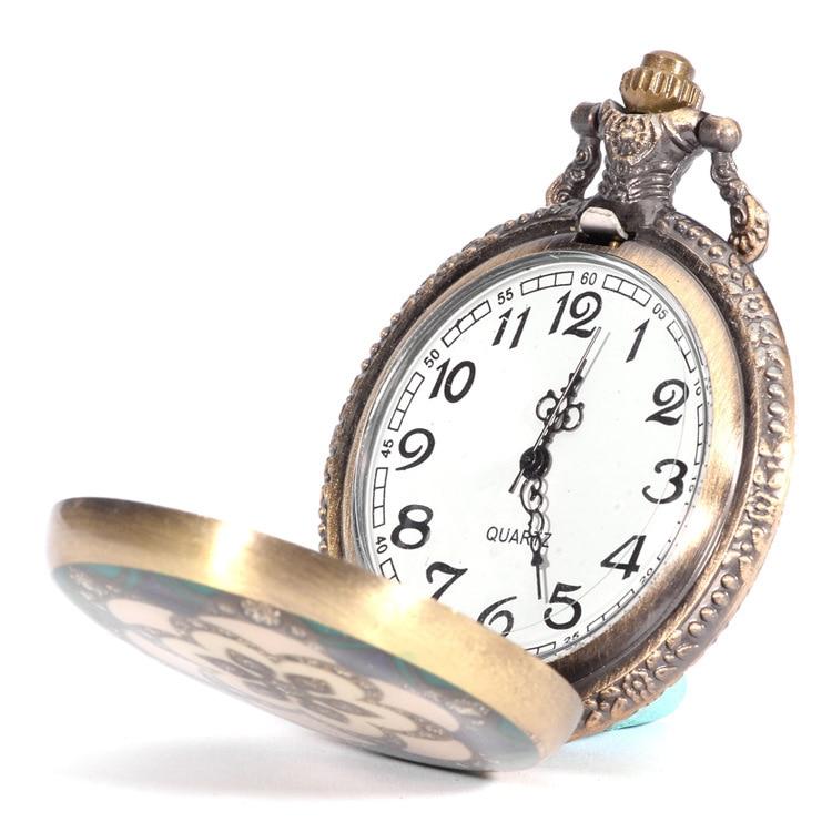 Antieke zon bloem zakhorloges FOB kristallen horloges Mannen vrouwen - Zakhorloge - Foto 2