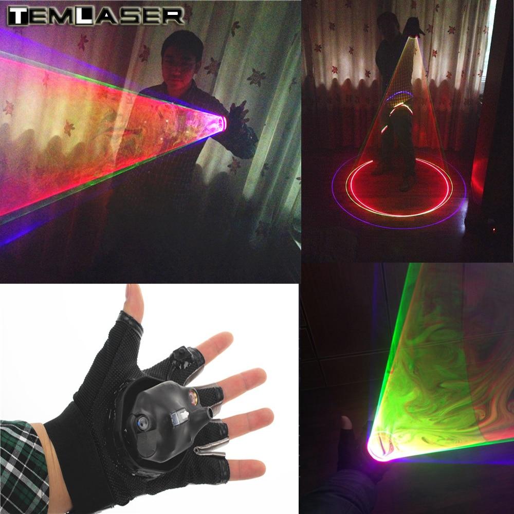 Envío gratis RGB Láser Torbellino Multicolor Láser Vortex Láser Man etapa suministros suministros LED Láser Guantes Actuaciones en clubes nocturnos