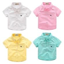 Boy Cotton Short-sleeved Shirt Summer Summer New Children's Shirt Children's Baby Shirt Tide