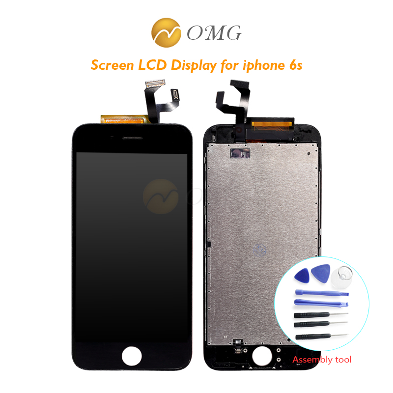 Omg teléfono móvil panel táctil para iphone 6s 6 s 4.7 pulgadas LCD Display Asam