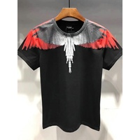 feather 3D Marcelo Burlon Men Tshirt Soft Summer Tee Shirt For Men Wings Graphic Printed Men's T Shirt Brand Men Clothing