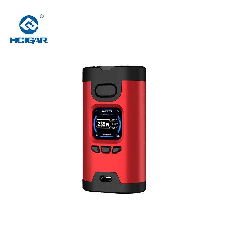 Original HCIGAR Wildwolf 235W TC Box Mod Vape Dual 18650 Battery TFT color Screen vape mod Electronic Cigarette Vaporize Mods