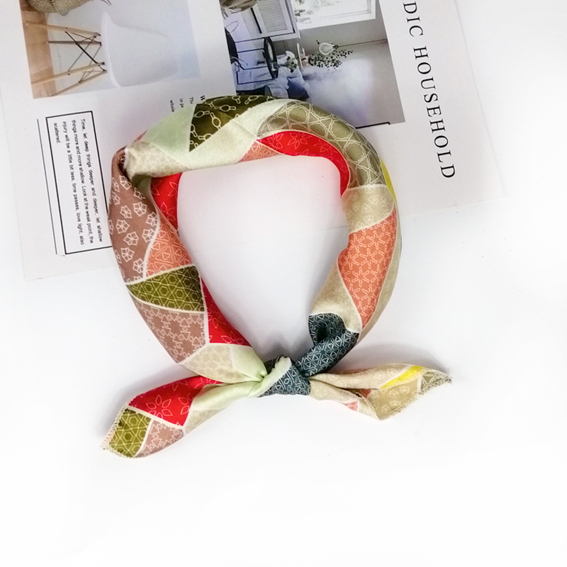 HTB1sQUgeLWG3KVjSZFPq6xaiXXax - new style Square Scarf Hair Tie Band For Business Party Women Elegant Small Vintage Skinny Retro Head Neck Silk Satin Scarf