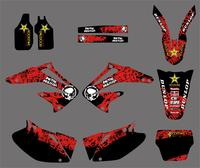 Motorcycle Graphic Decals Stickers For Honda CRF450R CRF450 2002 2003 2004 CRF 450 450R Fender Swingarm Decals