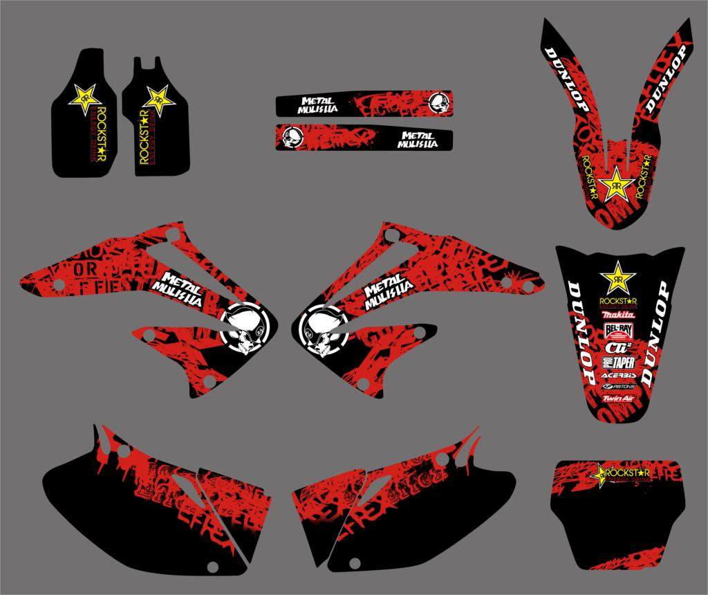 Motorcycle Graphic Decals Stickers For Honda CRF450R CRF450 2002 2003 2004 CRF 450 450R Fender Swingarm Decals for honda crf 250r 450r 2004 2006 crf 250x 450x 2004 2015 red motorcycle dirt bike off road cnc pivot brake clutch lever