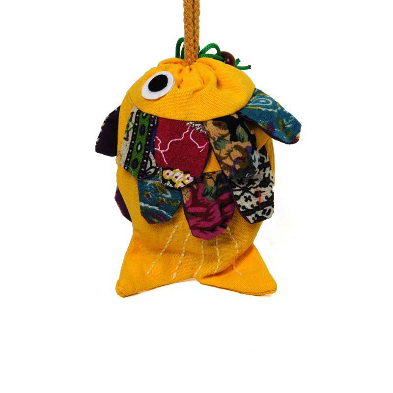 Chinese Fish Traditional Gift Jewelry phone Bag small string Organizer Pouch Coin Purse LBY2017