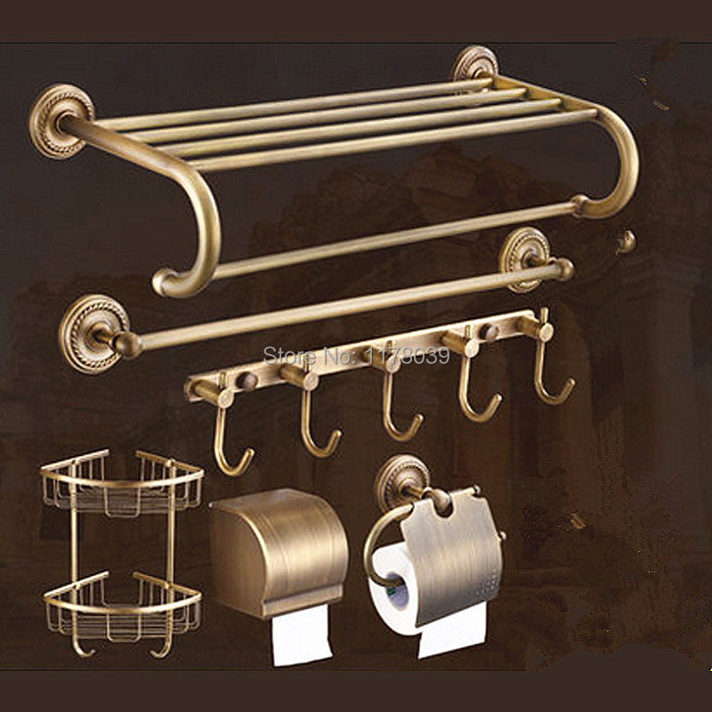 Bathroom Towel Rack Kit: All Copper Antique Towel Rack,brass Retro Bathroom Shelves