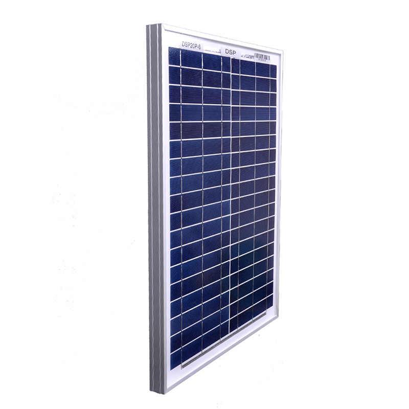 DOKIO 18 Volt 12V 20Watt Kleine Solar Panel China Wasserdicht Panels Solar-Sets/Modul/System/Home/Boot 10A 12/24V Controlle