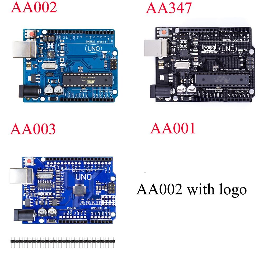 Kuongshun UNO R3 Développement MEGA328P 100% d'origine ATMEGA16U2 PUCE pour Arduino Uno R3