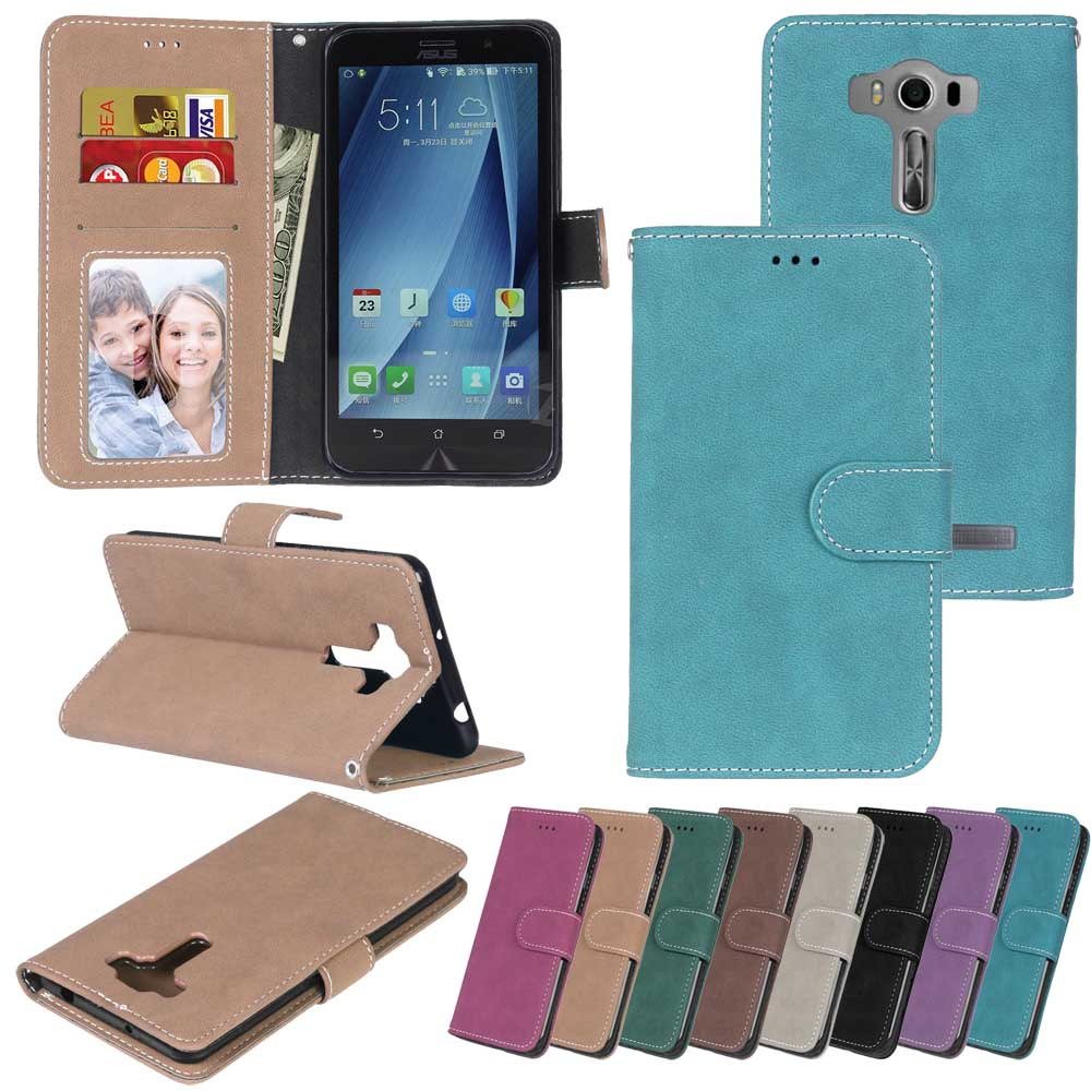 Leather Case for ASUS Zenfone 2 laser ZE550KL Phone Case Flip Cover for ASUS Z00LD <font><b>ZE</b></font> ZE550 <font><b>550</b></font> 550KL <font><b>KL</b></font> ASUS_Z00LD Phone Bags image